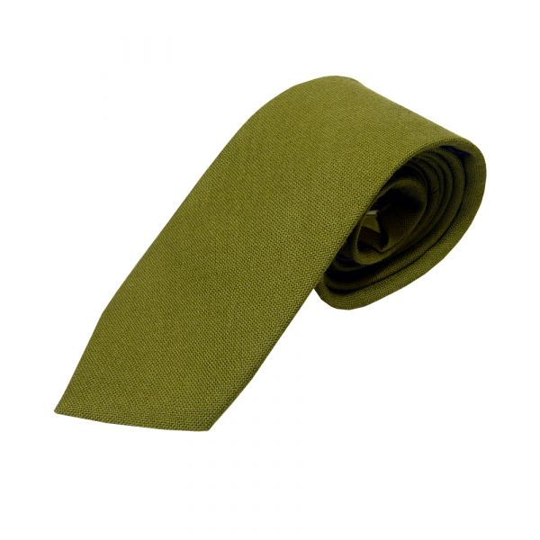 Green Pure Wool Handmade Tie