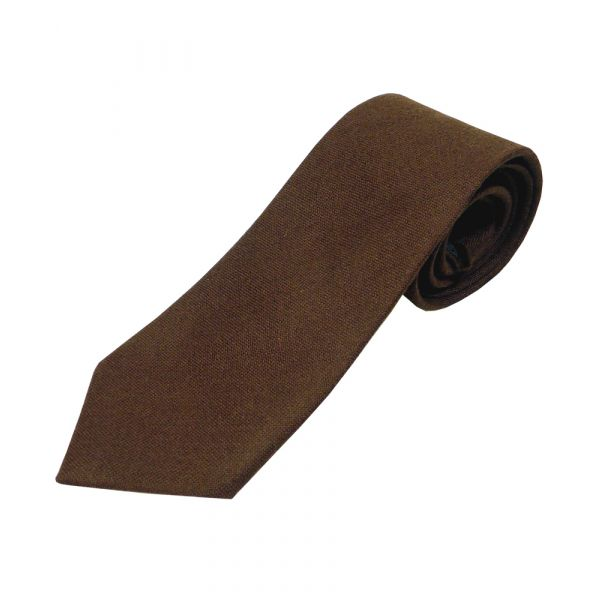 Brown Wool Tie from Van Buck