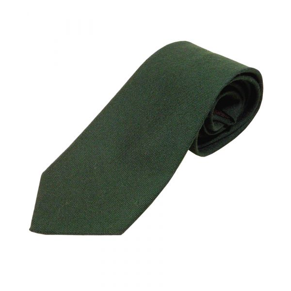 Bottle Green Wool Tie from Van Buck