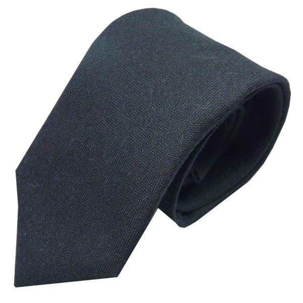 Black Pure Wool Tie from Van Buck