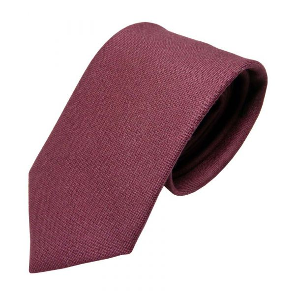 Claret Wool Tie from Van Buck
