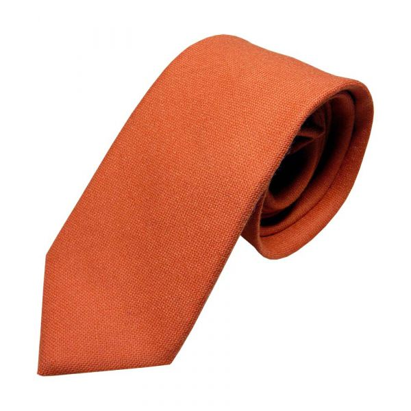 Dark Orange Wool Tie from Van Buck