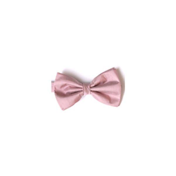Pink Shantung Silk Pre Tied Bow Tie
