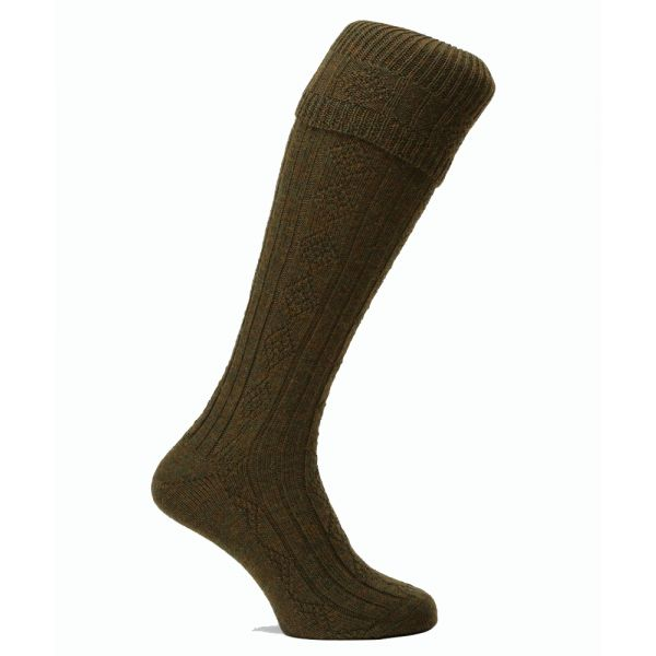 Poacher Shooting Sock in Greenacre from Pennine Socks