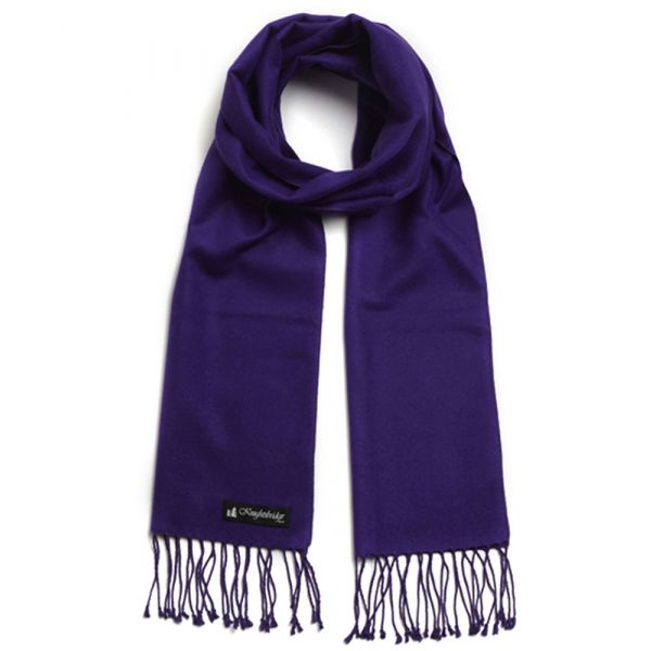 Purple Brushed Silk Scarf by Knightsbridge Neckwear