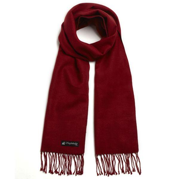 Vermilion Brushed Silk Scarf by Knightsbridge Neckwear