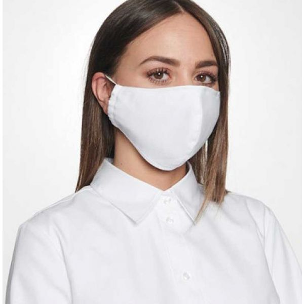 White Cotton Face Mask from Seidensticker
