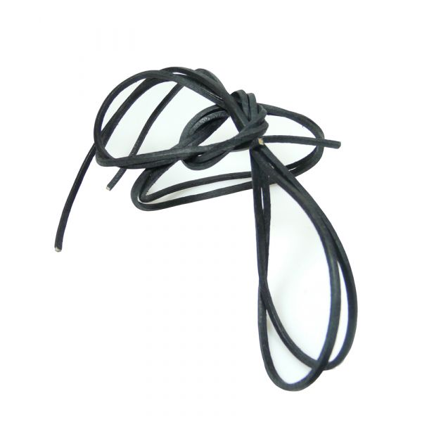 Black Leather Shoe Laces