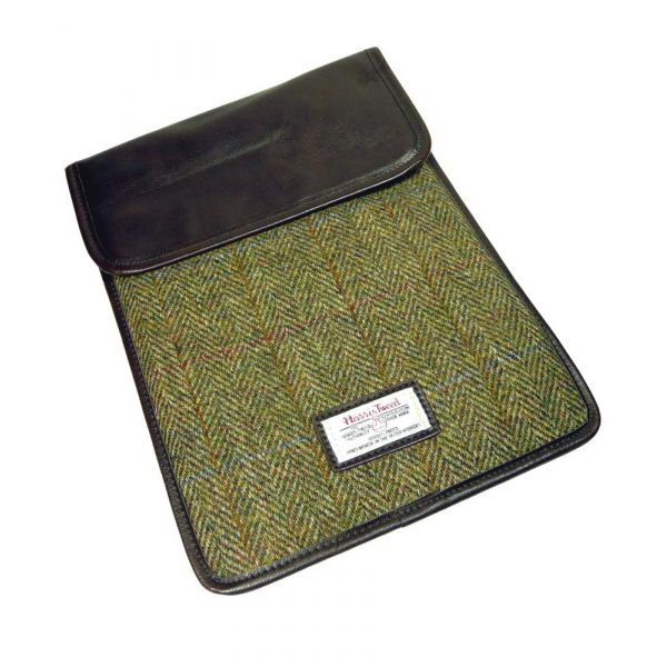 Green Harris Tweed I-Pad Case