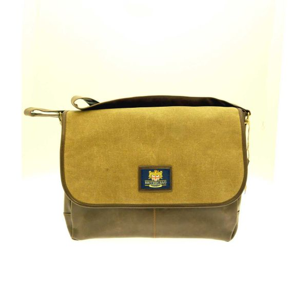 Messenger Bag in Tan and Brown from The British Bag Company