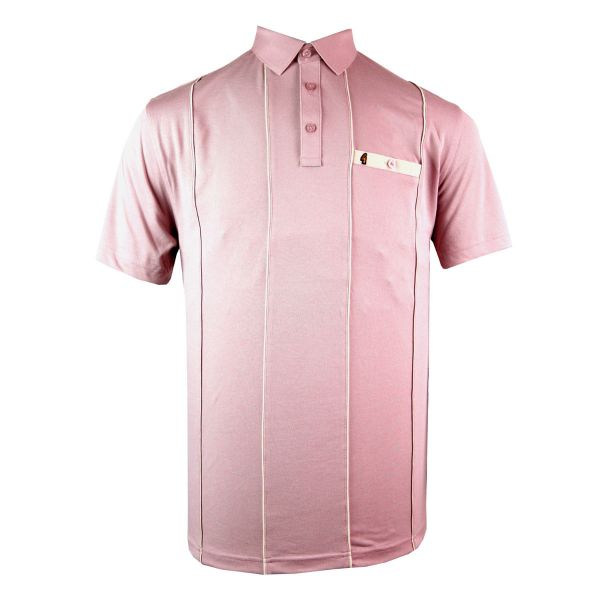 Classic Gabicci Polo Shirt with Pencil Stripe and Pocket Trim