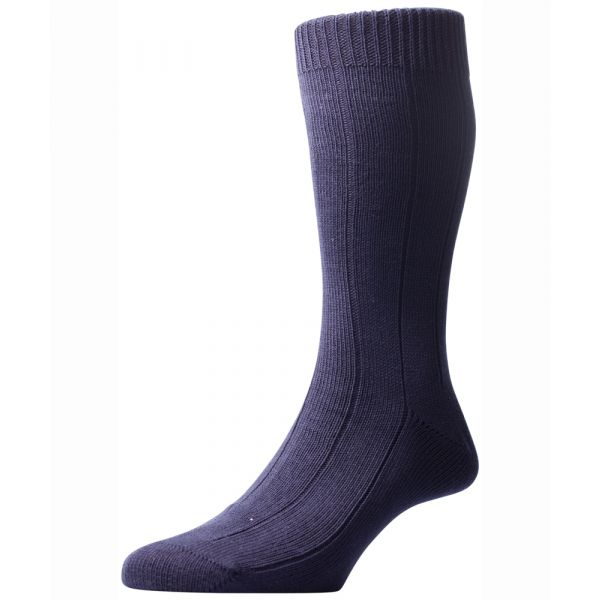 Pantherella Socks - Beak - Mens - Plain - Cotton Blend - Half Calf - Short
