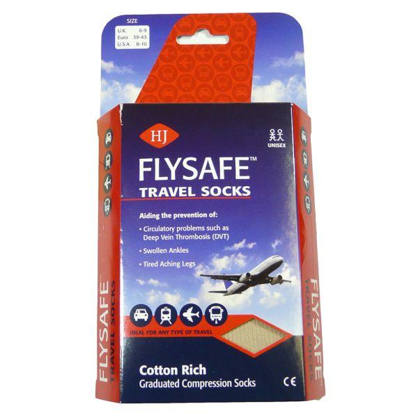 Beige Flysafe Compression Socks