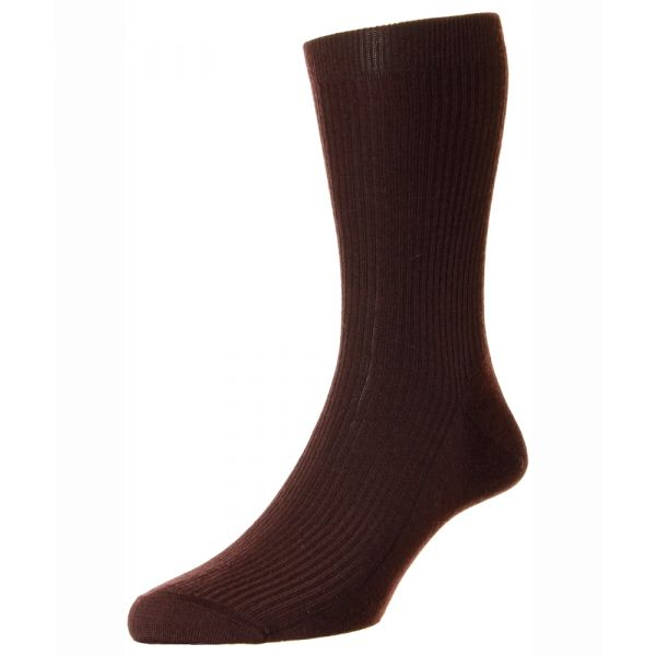 Pantherella Socks - Naish  - Mens - Plain - Wool Blend - Half Calf - Short
