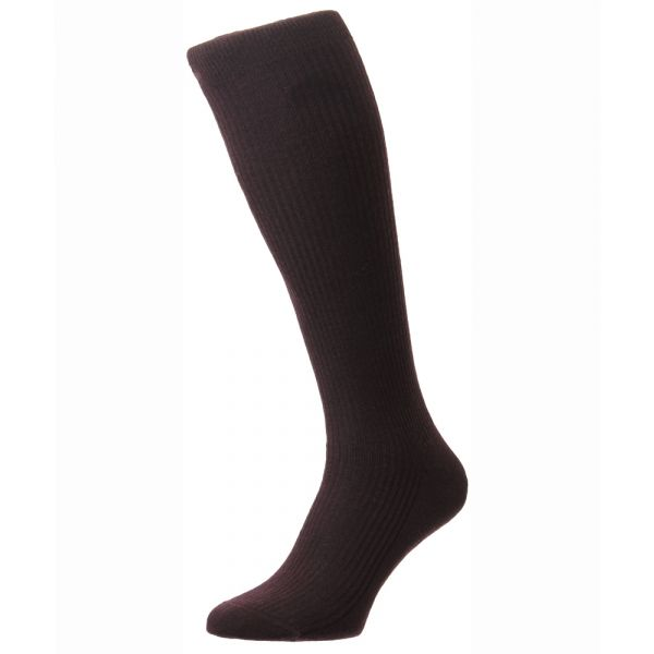 Pantherella Socks - Naish  - Mens - Plain - Wool Blend - Full Calf - Long