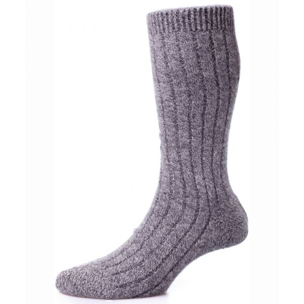 Pantherella Socks - Waddington - Mens - Plain - Cashmere Blend - Half Calf - Short