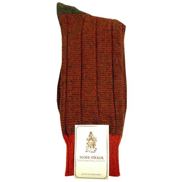 Chatsworth Shetland Wool Sock in Red