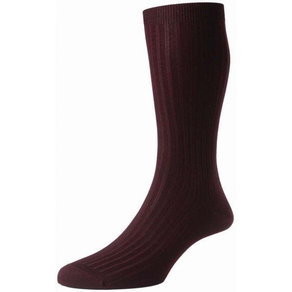 Pantherella Danvers Socks - Mens - Plain - Cotton Blend - Half Calf - Short - 5614