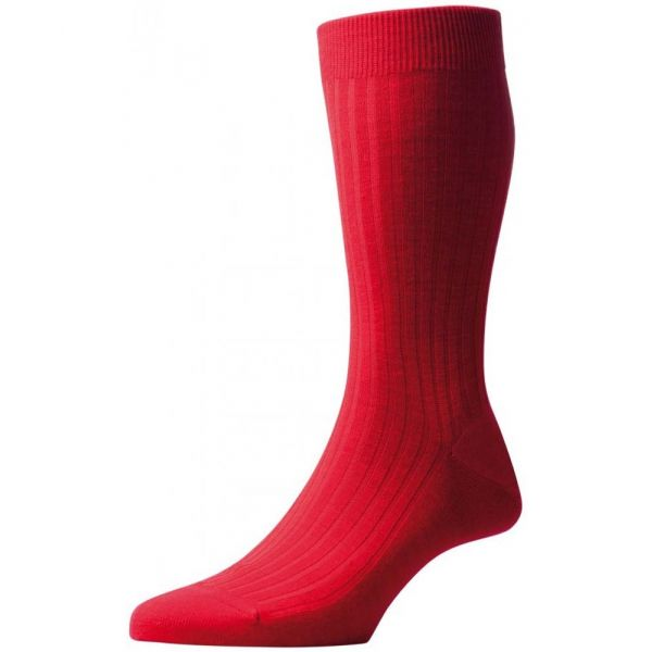 Pantherella Socks - Laburnum  - Mens - Plain - Wool Blend - Half Calf - Short