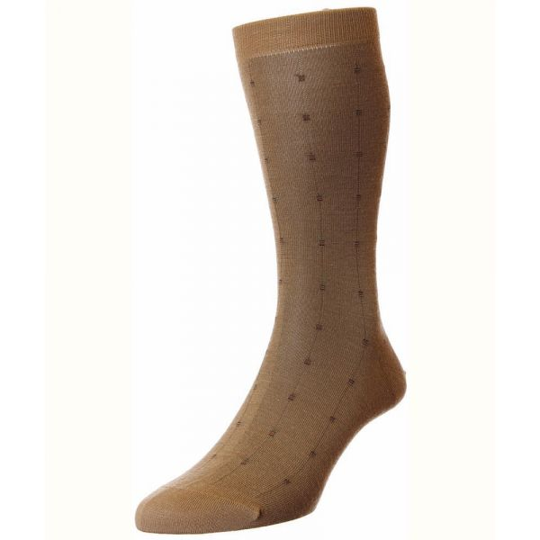 Pantherella Socks - Botolph - Mensl - Patterned - Wool Blend - Half Calf - Short