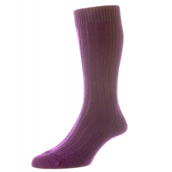 Pantherella Socks - Luxury Range - Waddington -New Colours - Plain Cashmere - Half Calf