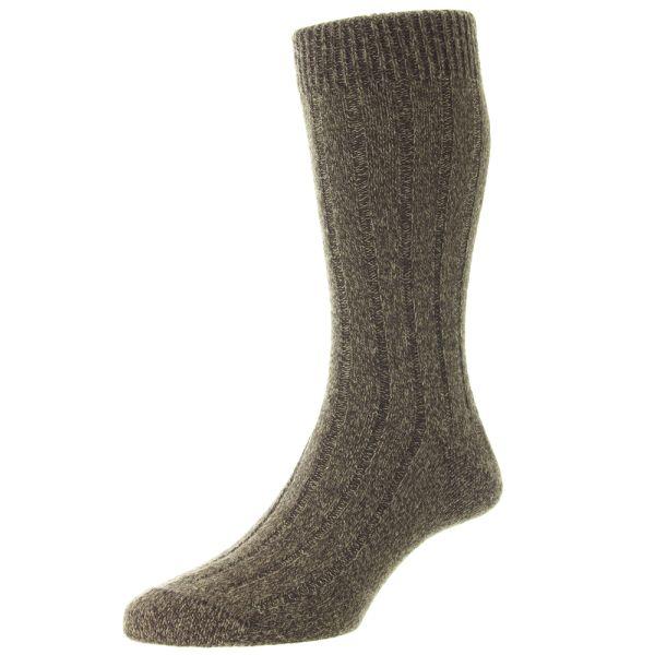 Pantherella Socks - Vintage Range - Ampato - Mens - Plain Rib -  Alpaca - Half Calf - Short