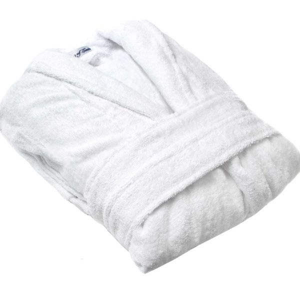 Bown Mens Cotton Towelling Dressing Gown in White
