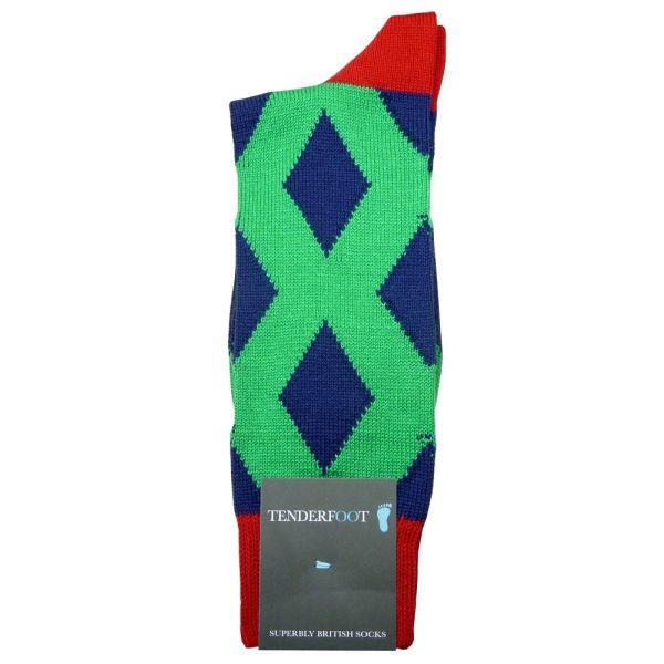 Shard -  Diamond Pattern Cotton Socks from Tenderfoot