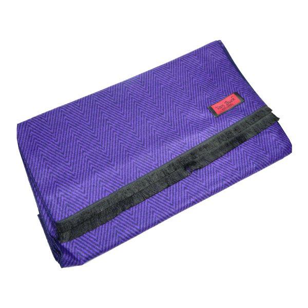 Van Buck Reversible Scarf, Purple & Navy Scarf in Herringbone or Spots Design