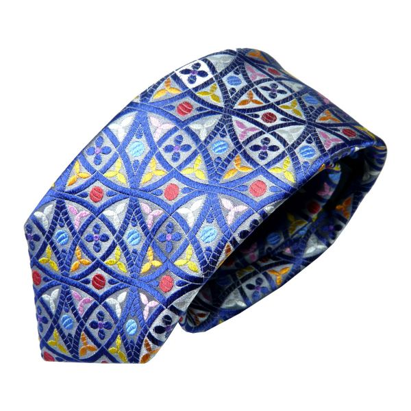 Limited Edition Silk Tie with Venn Diagram Style Design from Van Buck