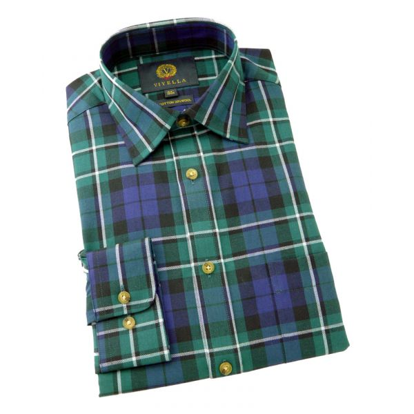 Viyella Cotton and Wool Shirt in MacCallum Tartan