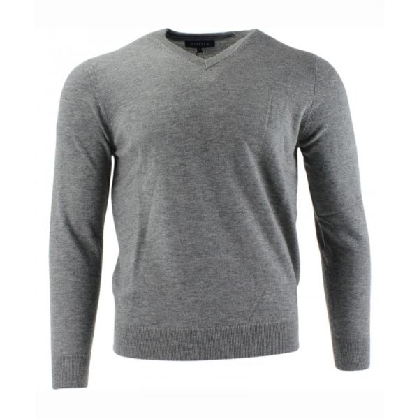Viyella Merino Wool V Neck Jumper