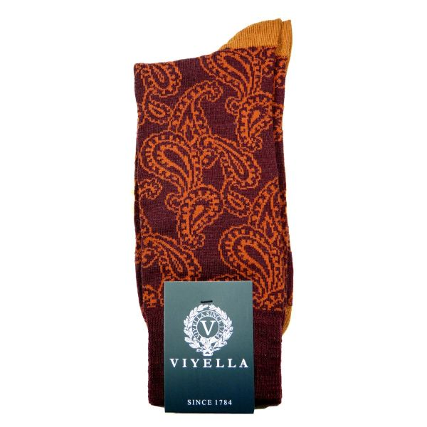 Viyella Wool Socks with Paisley Design