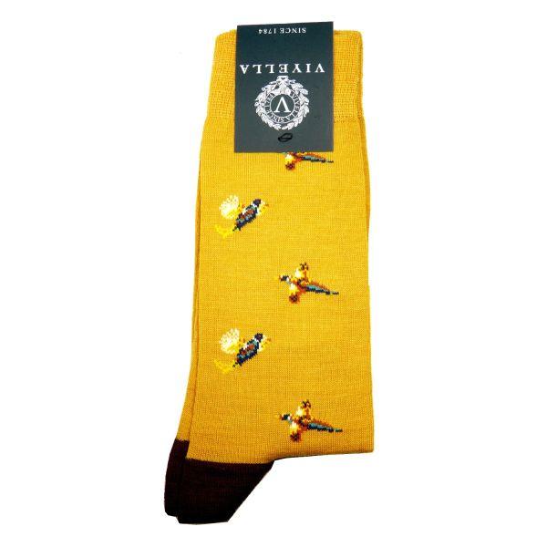 Viyella Wool Socks with Pheasant Design