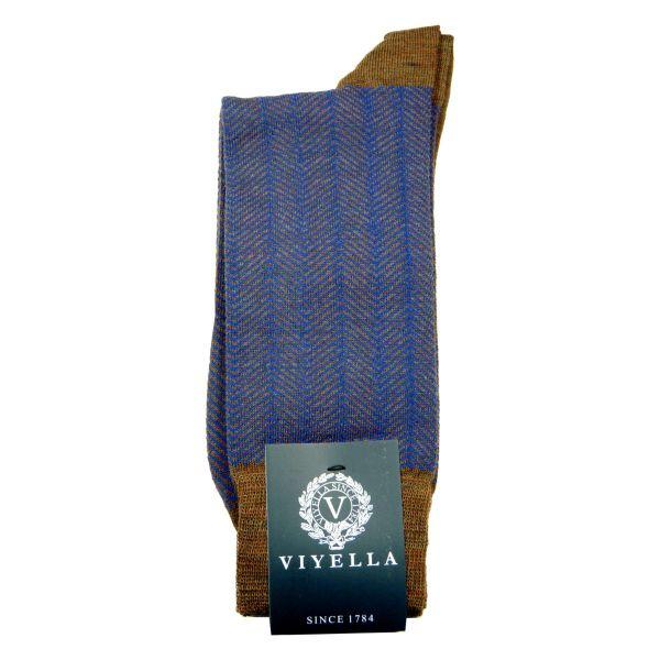Viyella Wool Socks with Herringbone Design