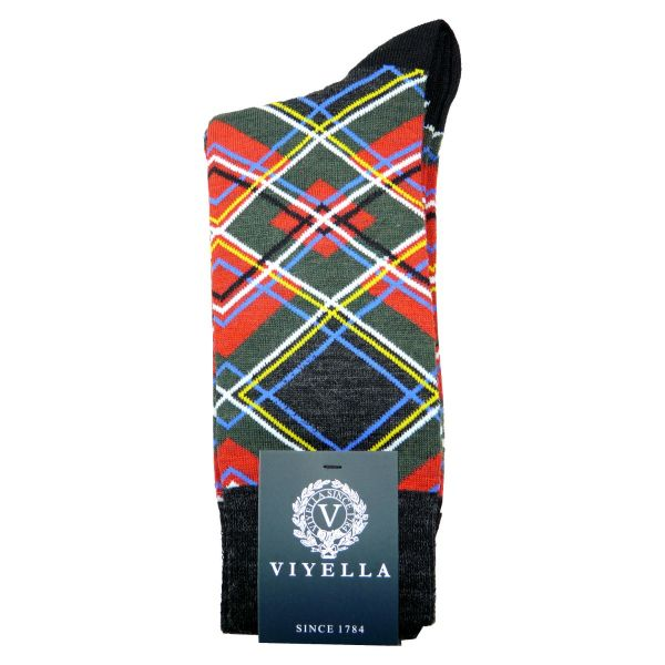 Viyella Wool Socks with Geometric Design
