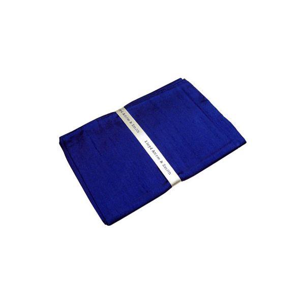 French Navy Shantung Silk Handkerchief