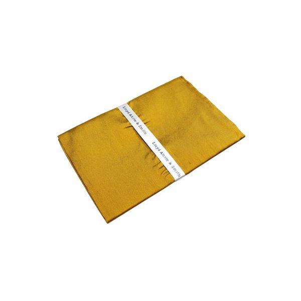 Gold Shantung Silk Handkerchief