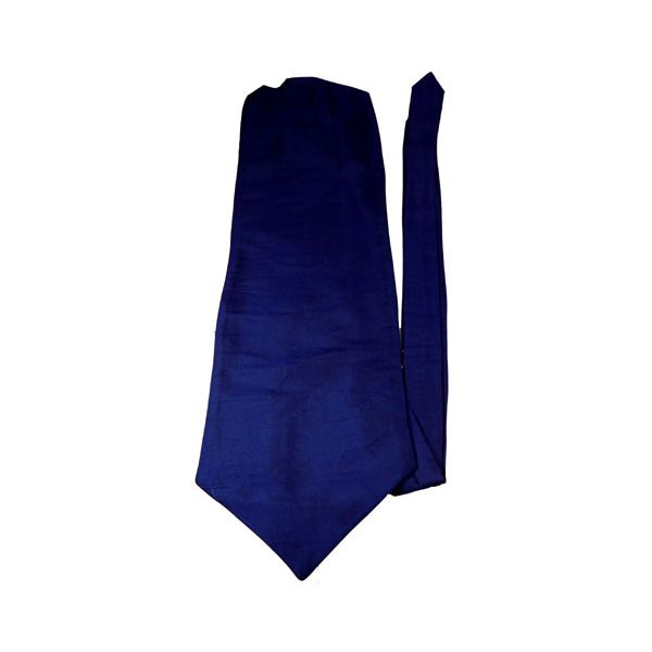 French Navy Shantung Silk Self Tie Cravatte