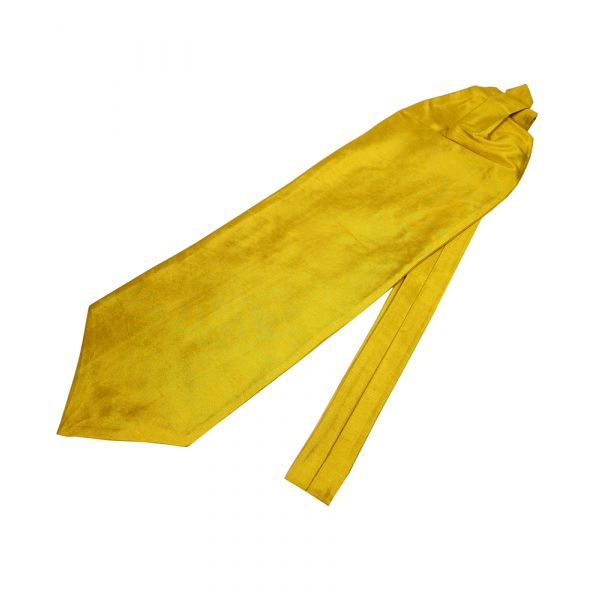 Gold Shantung Self Tie Cravatte
