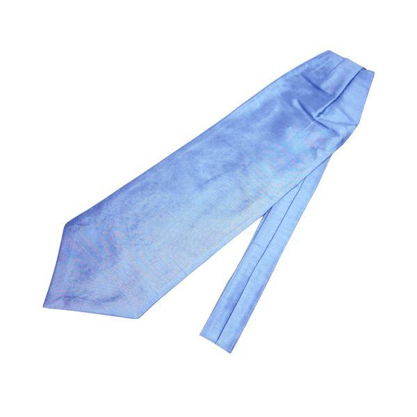 Light Blue Shantung Silk Self Tie Cravatte