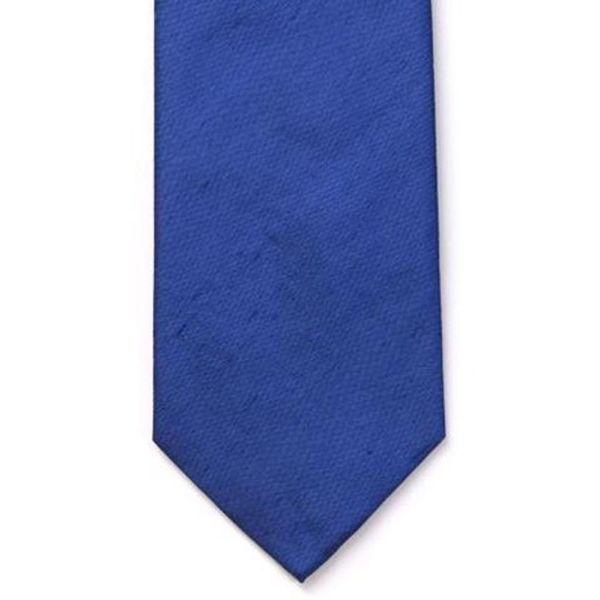 French Navy Shantung Silk Tie