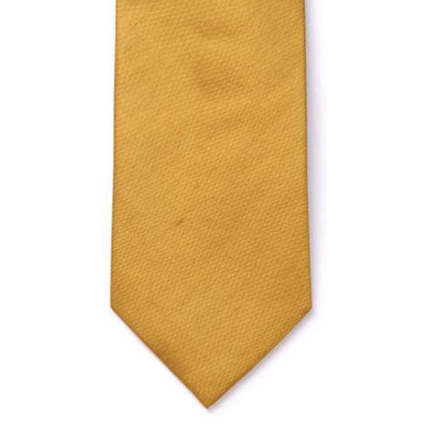 Gold Shantung Silk Tie