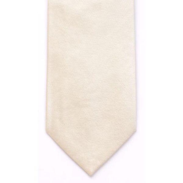 Ecru Shantung Silk Tie