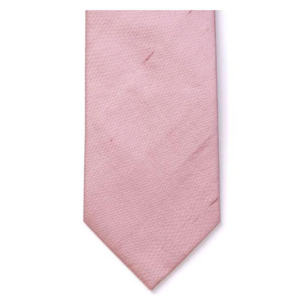 Pink Shantung SilkTie