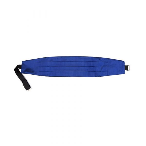 French Navy Silk Shantung Cummerbund