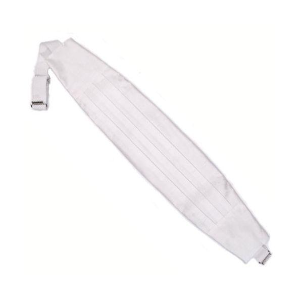 White Shantung Silk Cummerbund