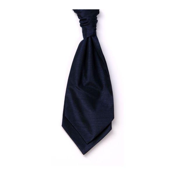 Navy Self Tie Polyester Shantung Men's Cravat