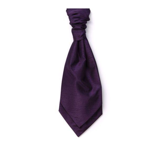 Purple Self Tie Polyester Shantung Men's Cravat