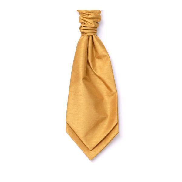 Gold Self Tie Polyester Shantung Men's Cravat
